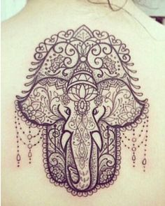 hamsa ganesh tattoo