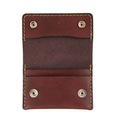 Edison Akron Leather Wallet Mahagony | ShopPigment