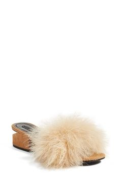 Free shipping and returns on Alexander Wang Lou Feather Slide Sandal (Women) at Nordstrom.com. Alexander Wang gives an essential some vintage glamour in this leather slide sandal detailed with a striking cutout heel and lush marabou feathers.