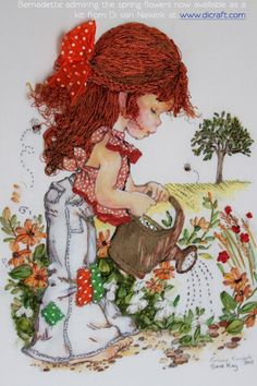 Di van Niekerks Silk Ribbon Embroidery