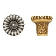 "Edgar Berebi 8441 Cabinet Hardware 15/16"" Knob in Antique Nickel.  Best price at Decoware; Abraham@decow.com."