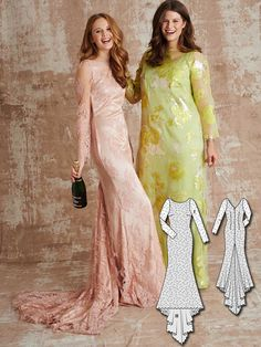 Long Sleeve Gown 03/2016 #123 http://www.burdastyle.com/blog/bridesmaid-dresses-10-new-womens-sewing-patterns