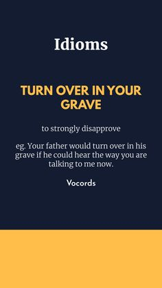 Vocords - Improve English With Movies & TV Series English Idioms, English Phrases, Learn English Words, Humor English, English Grammar, Idioms Words, Idioms And Phrases, English Vocabulary Words, English Language Learning