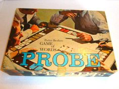 PROBE Word Board Game Word 1964 Parker Brothers Vintage Boys & Girls 10- adult #ParkerBrothers