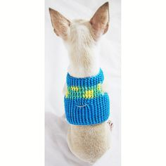 Soft Dog Harness XXS Choke Free Mesh Puppy Harnesses by myknitt #myknitt #dogharness #dogs #pets #cutedogs #chihuahua #puppy #designerdog