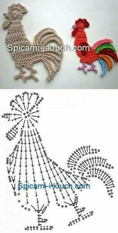 Crochet Doily Patterns 83343 I just saw these little flat animals very easy to make and which can decorate your creations: sweaters, blanket, baby nest…. draw and crochet! Crochet Birds, Crochet Doily Patterns, Easter Crochet, Crochet Diagram, Crochet Chart, Thread Crochet, Cute Crochet, Irish Crochet, Crochet Doilies