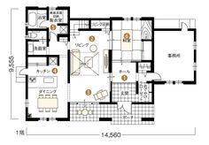 テックランド 金沢展示場 1階平面 ヤマダ・エスバイエルホーム
