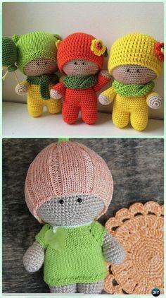 Crochet Amigurumi Big Head Doll Yoyo Free Pattern - Crochet Doll Toys Free Patterns