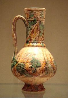 Glazed Ceramic Jug Cyprus Islamic C, Louvre, Paris click now for more. Ceramic Pottery, Pottery Art, Pottery Ideas, Vases, Pots, Ceramic Pitcher, Vase Shapes, Antique China, Glazed Ceramic