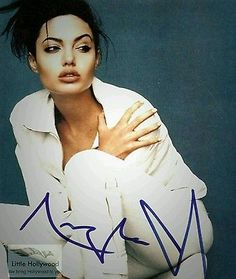 Autographed in person inch photo. People commonly request her autograph via the mail but she has a company that Michael Jackson, Taylor Swift, Angelina Jolie Makeup, Hot Poses, Jolie Pitt, Oscar Winners, Movie Photo, Shows, Celebrity Photos