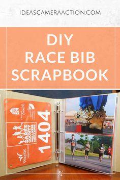 Here's how I made my race bib scrapbook/holder/display/whatchamacallit.