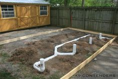 4 run dog kennel with septic tank. #Kennel #Dog