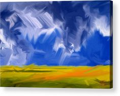 Here Comes The Storm Acrylic Print by Vincent Franco