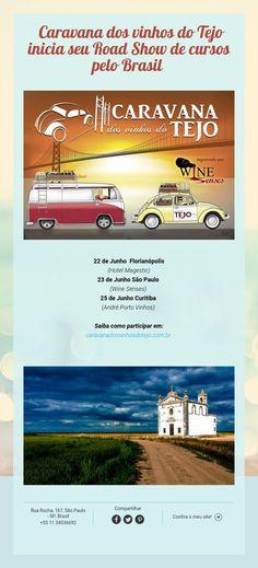 Caravana dosvinhos do Tejo inicia seu Road Show de cursos pelo Brasil