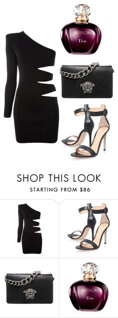 """""""1"""" by alma-ja ❤ liked on Polyvore featuring Balmain, Gianvito Rossi and Versace"""