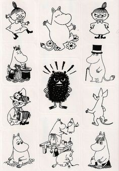 the moomins' stickers