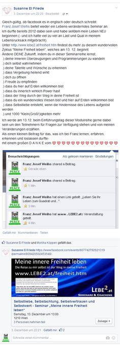 Über dieses Posting habe ich mich sehr gefreut: http://www.lebe2.at/Wort-Geh-Schenke/freiheit_post_susanne_el_friede.jpg