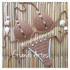Crotchet Patterns, Love Crochet, Swimsuits, Swimwear, Jumpsuits For Women, Crochet Projects, Crochet Bikini, Beachwear, Knitting