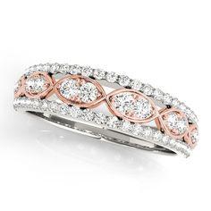 Wedding Band - Two Tone Infinity Diamond Wedding Ring