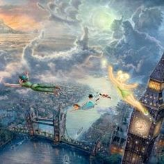 Honestly, one of my favorites from this collection. I want to use this as a theme for my son's room, with a Peter Pan quote about never growing up Thomas Kinkade, may you RIP.  Thank you for your beautiful work.