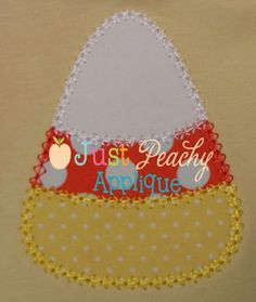 candy corn appliqued
