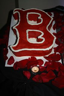"""Boston Red Sox Grooms Cake"" JillyCakes"