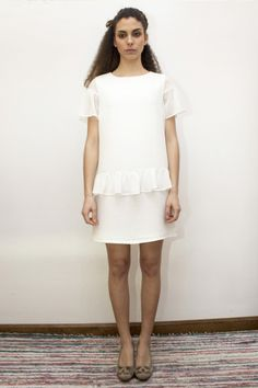 Little White Dress. Vestido Bazille de La Böcöque http://labocoqueshop.bigcartel.com/product/vestido-bazille#.U3EM0aK1vA4