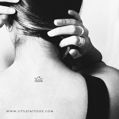 Minimalist Sea Temporary Tattoo (Set of 3) – littletattoos Small Nature Tattoo, Nature Tattoos, Tattoo Set, Sea Waves, Temporary Tattoos, Tattoos For Women, Minimalist, Ocean Waves, Female Tattoos