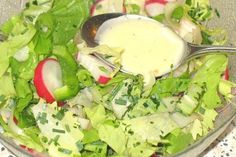 Salad dressing stocked by Bruzzelfee Chef Salad Recipes, Salad Dressing Recipes, Ensalada Cobb, Green Salad Dressing, Eggs Benedict Recipe, Salad Sauce, Different Vegetables, Food And Drink, Ethnic Recipes