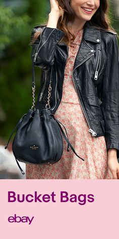 For a bag with a distinct silhouette, go with a bucket bag. Shop eBay now.