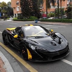 @metrorestyling • Black & Yellow #McLaren P1 via @can667475 •MetroRestyling.com For Your Wrap Material