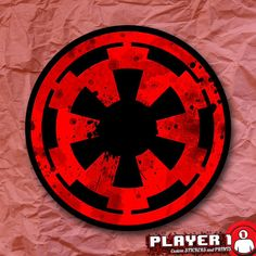Galactic Empire Symbol Star Wars Sticker by Player1Stickers