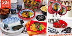 Chicago Blackhawks Party Supplies, Favors