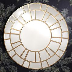 Celebrate art deco design in your home with the gold leaf looks of the geometric Samba Round Wall Mirror from Castle Road Interiors. Round Wall Mirror, Floor Mirror, Round Mirrors, Contemporary Home Furniture, Modern Contemporary, Modern Design, Art Deco Design, Glass Design, Glass