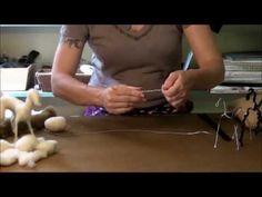 ▶ Needle Felting Tutorial - Sarafina Fiber Art Goat Series: 1 Armature - YouTube