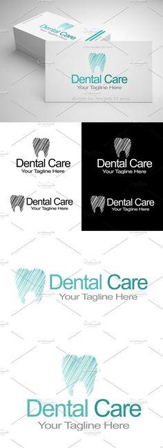 Dental Care, Logo Design Source by creative_daddy Dental Clinic Logo, Dentist Logo, Dental Art, Clinic Design, Dental Design, Care Logo, Black And White Colour, Logos, Yorkie