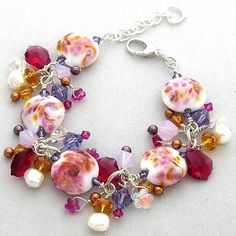 Fall flowers bracelet by Heart's Desire Jewlery