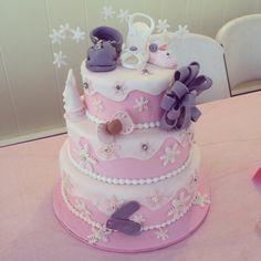 Winter themed baby shower cake