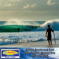 Beach Break - The beach break is where the waves break on the sandy seabed. This type of wave is the best to start surfing on.  #SurfingTips #BeachBreak #Beginners