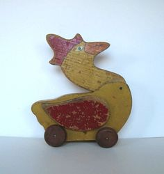 Antique Handcrafted wood Duck Toy Home Decor by jewelryandthings2