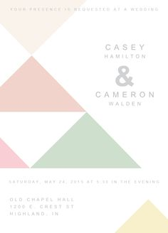 different unique and modern geometric wedding design stationery invitations save the dates and more from Sugar Tree Paperie