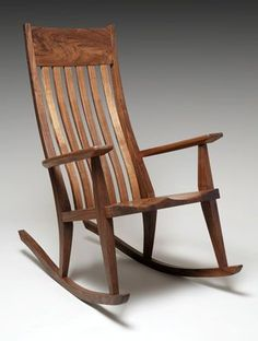 gasperetti.com  Most of Bob's furniture is inspired by Shaker, Mission, and Arts & Crafts styles. #RockingChair