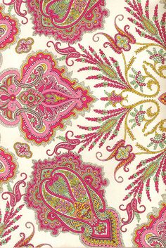paisley pattern via sicile Paisley Art, Paisley Fabric, Paisley Design, Paisley Pattern, Pattern Art, Pattern Design, Pretty Patterns, Beautiful Patterns, Fractals