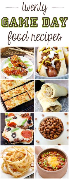 20 Game Day Food Recipes - get your grub on with these easy recipes!: