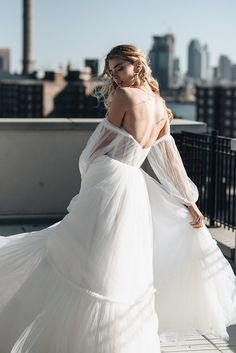 Alena Leena Bridal featured in NYC for the One Fine Day Bridal Fashion Photoshoot Photographer Videographer Creative Direction Hair & Make Up Model Location // Manhattan & Quirky Wedding Dress, Wedding Dress Styles, Dream Wedding Dresses, Boho Wedding, Red Mermaid Dress, Latest Wedding Gowns, Bridal Photoshoot, Bridal Outfits, Dream Dress