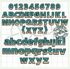 Beach/Ocean MTC & SVG Cutting File Font by TheScrapoholic on Etsy
