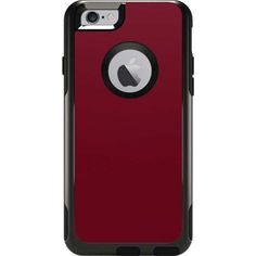 Burgundy Solids Otterbox Commuter iPhone 6 Skin | Skinit ($15) ❤ liked on Polyvore featuring accessories, tech accessories, phone case, phone, tech и otterbox