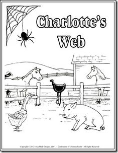 Charlottes Web unit study, plus links to many other book based unit studies