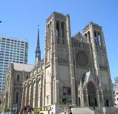 Grace Cathedral in San Francisco, the 5th largest gothic-style cathedral in the United States.