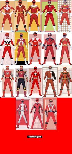 Red Rangers by ~TommyOliver5 on deviantART